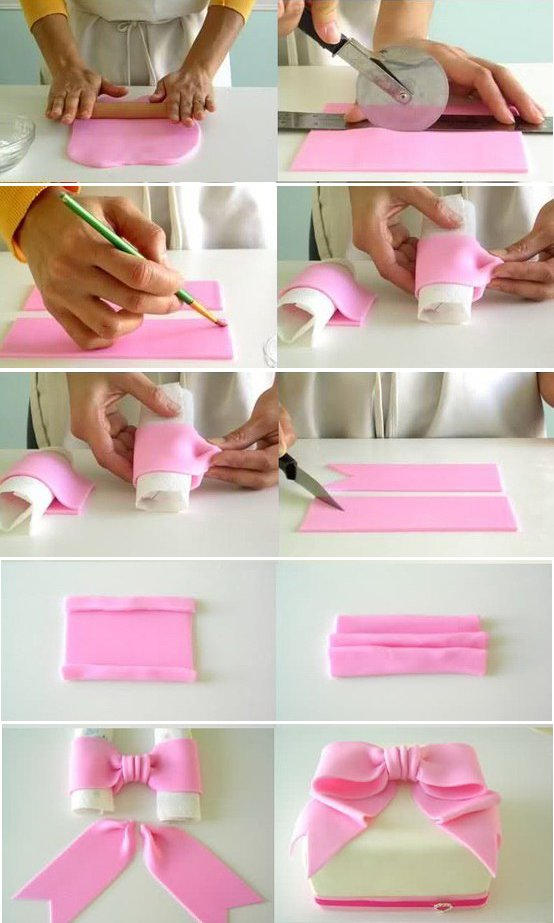 Как сделать ленты из мастики