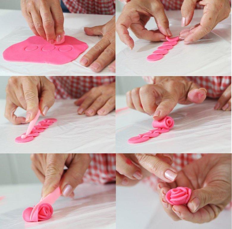 Как сделать из мастики розу