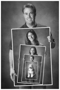 Оригинальная идея для семейной фотографии