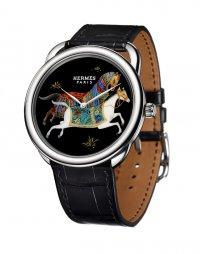 Часы с ручной росписью от Hermes