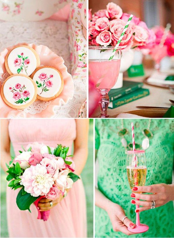 Свадьба в розовом цвете: учимся правильно сочетать оттенки