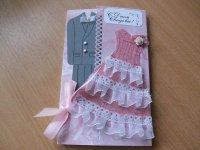 Идея для свадебной открытки своими руками