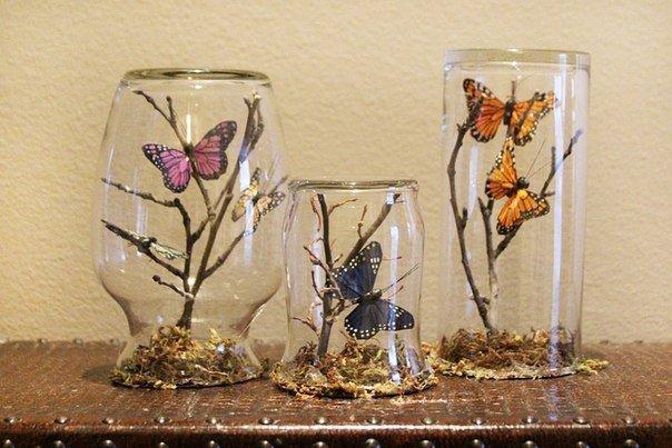 Простой и красивый декор с бабочками