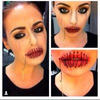 Очень страшный макияж для Хэллоуина