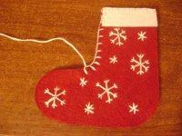Декоративный рождественский носок