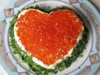 Салат «Сердце ангела» на День святого Валентина
