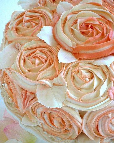 Как делать розы из кремом