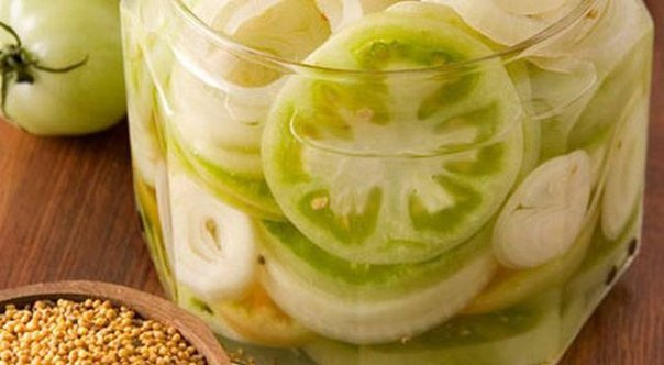 Соленые зеленые помидоры со вкусом огурцов