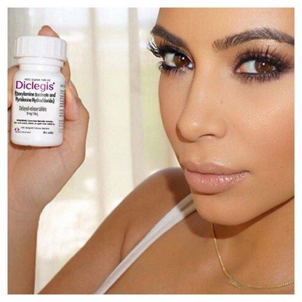 Ким Кардашьян заставили убрать селфи с препаратом от токсикоза