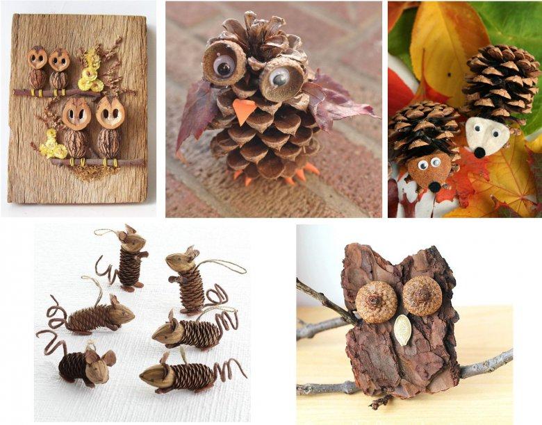 Идеи для детских поделок из природного материала - Детские поделки из природных материалов