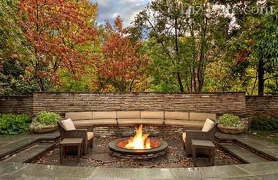 Осенний садовый камин от Dremel