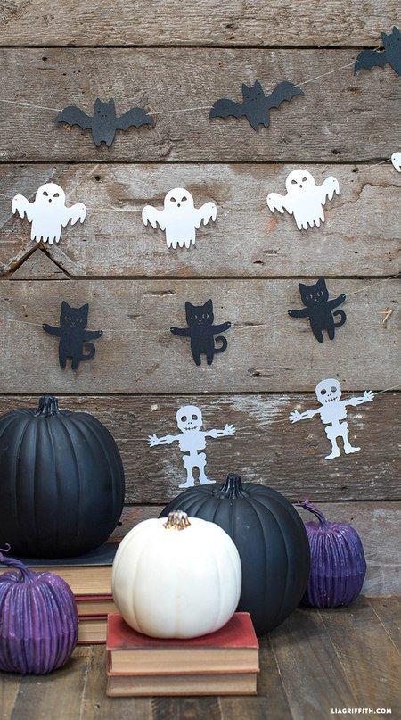 Простая гирлянда на Хэллоуин