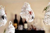 Паучьи гнезда для украшения комнаты на Хэллоуин