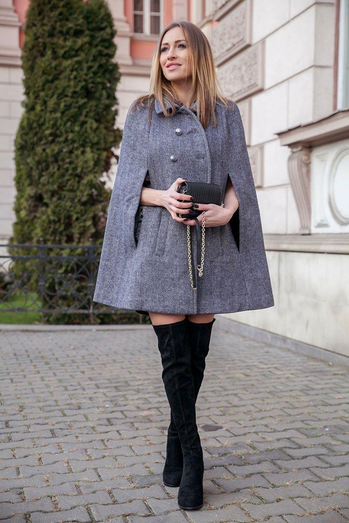 Модные пальто осень 2015: пальто-кейп