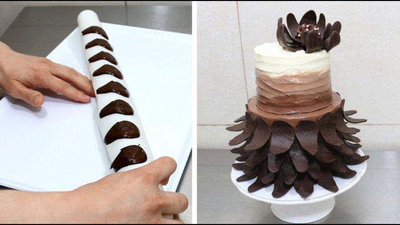 Как просто украсить торт шоколадом