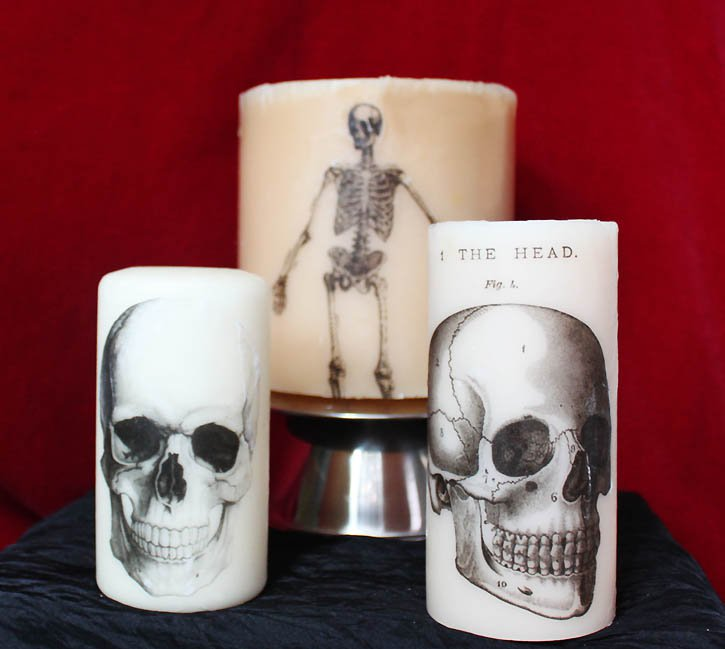 Свечи на Хэллоуин своими руками