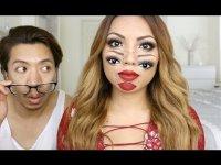 Жуткий макияж на Хэллоуин