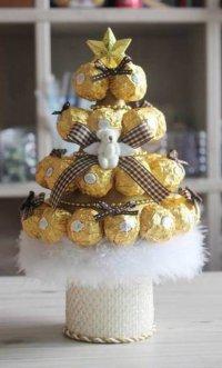 Новогодняя елочка из конфет