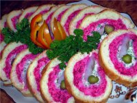 Новогодняя закуска «Шуба в шубке»