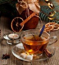 Мятный чай с мандарином