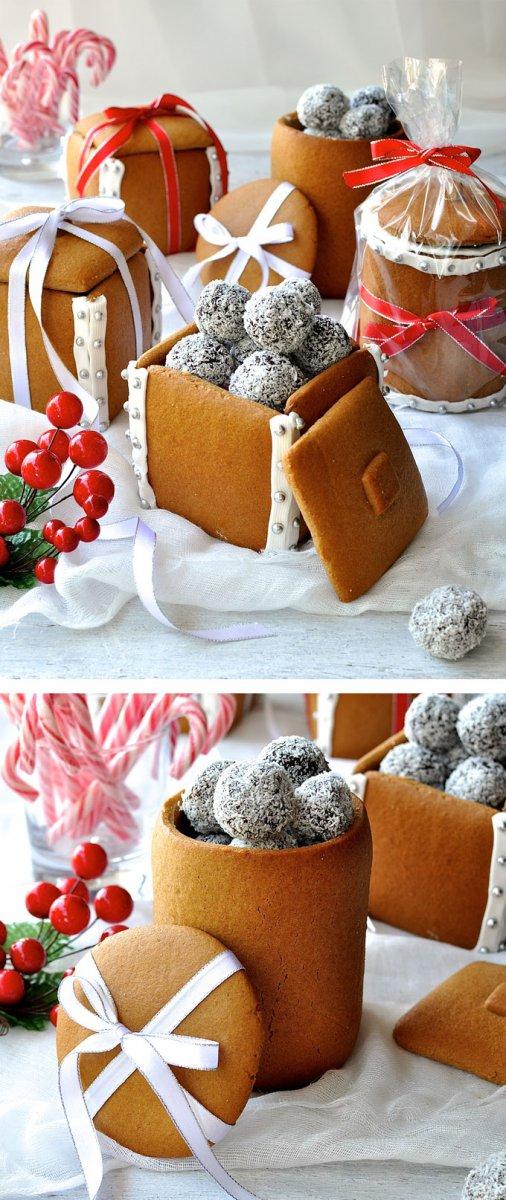 Идея упаковки сладкого подарка на Новый год
