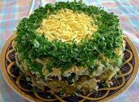 Простой салат на Новый год «Грибы под шубой»