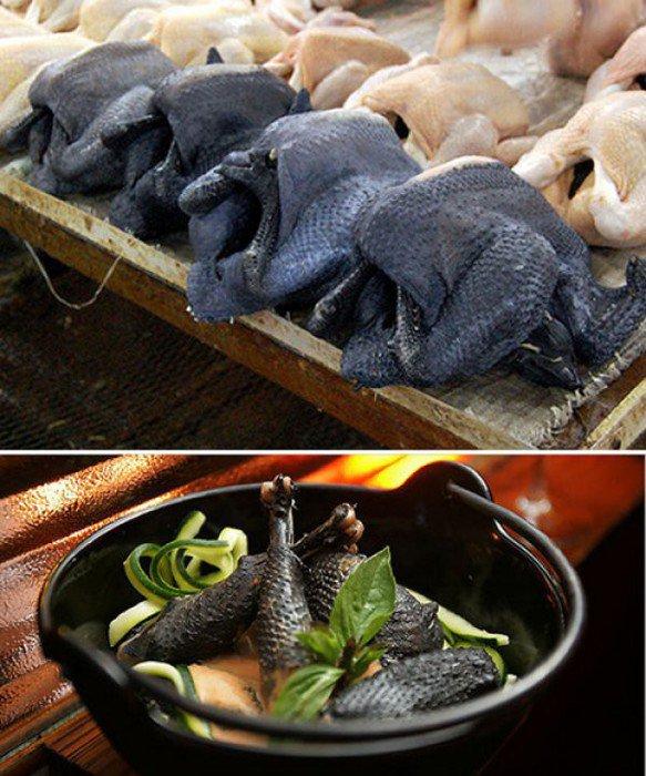 Курица с черным мясом - это реальность