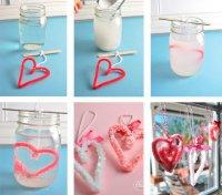 Детские поделки на День святого Валентина: кристаллические сердечки