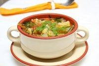 Меню в пост: суп из запеченных овощей