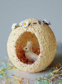 Готовимся к Пасхе: корзиночка для зайца