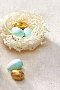 Пасхальное гнездо для яиц из бумаги