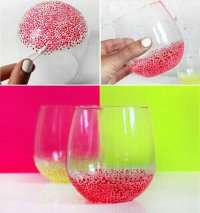 Хорошая идея для украшения стаканов