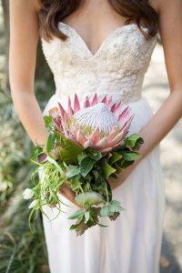 Свадебный букет с протеей