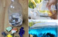Как сделать домашний океан в бутылке вместе с ребенком