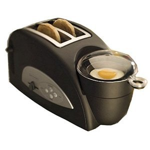 Back to Basics TEM500 Egg-and-Muffin 2-Slice Toaster and Egg Poacher
