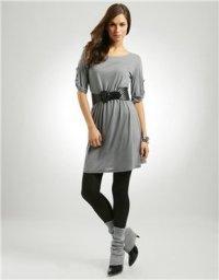 С чем носить гетры? Вариант с платьем