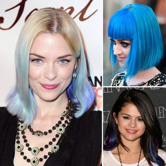 Голубого цвета волосы
