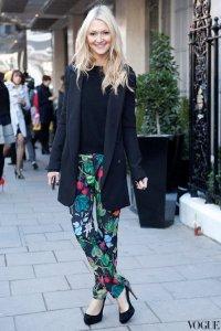 Цветочный принт на брюках - модный тренд 2012