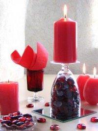 Подставка для свечей из бокала