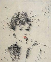 Портрет из микро-людей
