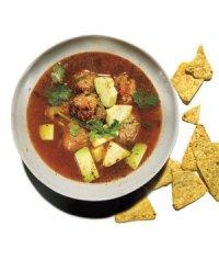 Мексиканский суп с фрикадельками