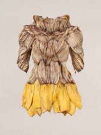 Деловое платье из бананов