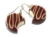 Сережки из полимерной глины:  сладкие конфетки