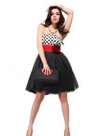 Короткие платья на выпускной 2012: ретро-стиль