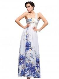 Длинные выпускные платья 2012: цветочный принт