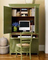 Домашний офис в кладовке или в шкафу - необычное решение
