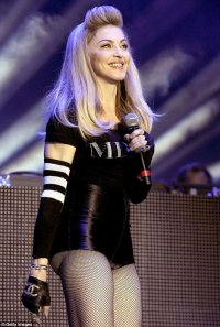 Мадонна не рассчитала мощности колготок