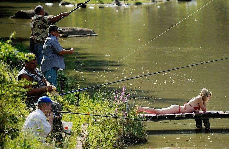 Любовь нежность, картинки смешные на рыбалке