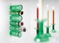 Поделки из пластиковых бутылок: подставки и подсвечники
