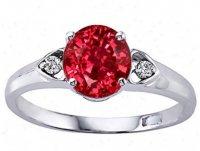 Обручальное кольцо с рубином и бриллиантами
